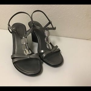 Shoes - Pesaro silver/gray sandals-8.5